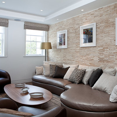 Inspiration for a mid-sized contemporary living room remodel in London