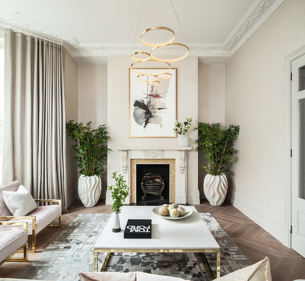 Transitional Living Room by Jo Hamilton Interiors