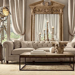 living room Kensington Upholstered Grand Sofa | Restoration Hardware