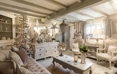 Houzz Tour: Fira jul i ett engelskt shabby chic hem från 1500-talet