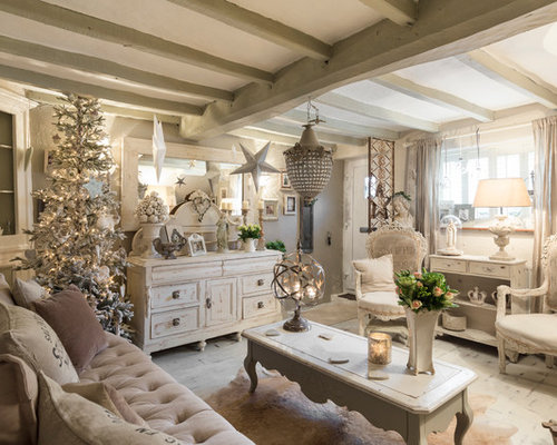 country chic living room furniture. Example of a cottage chic living room design in London Best 70 Shabby Chic Style Living Room Ideas  Designs Houzz
