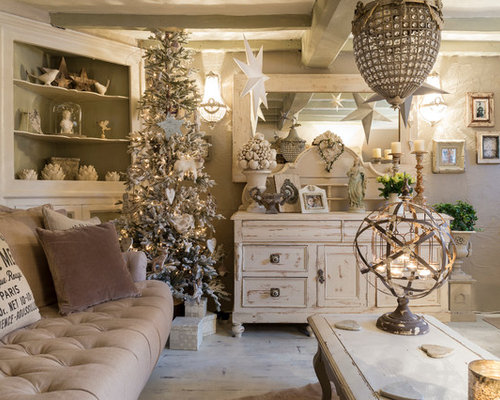 Cottage chic living room photo in London. Best 70 Shabby Chic Style Living Room Ideas   Designs   Houzz