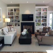 Traditional Living Room by Hudson Street Design