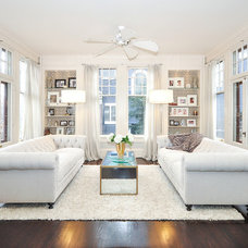 Transitional Living Room by Laura Potter Designs