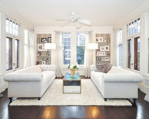 white living room houzz