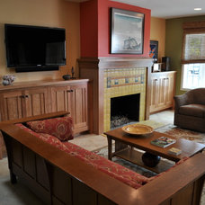 Traditional Living Room by Harding Construction & Sustainable Solutions