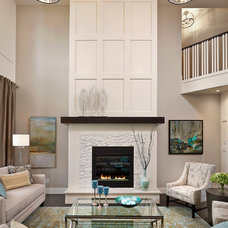 Transitional Living Room by Perry Signature Homes Inc.