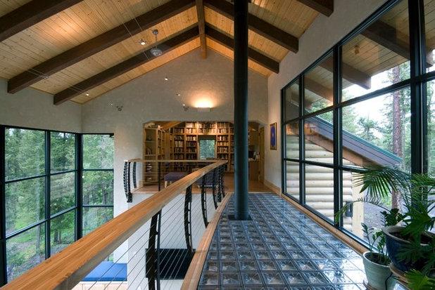 Contemporary Living Room by Keuka Studios, Inc