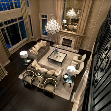 Traditional Living Room by kevin akey - azd architects - michigan