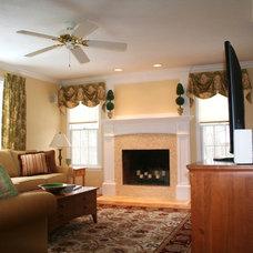 Traditional Living Room by kevinallencarpentry.com