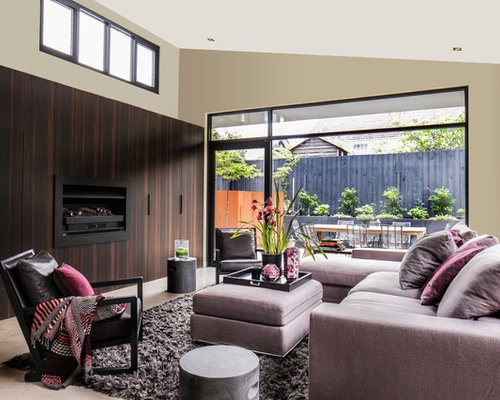 This Is An Example Of A Contemporary Living Room In Melbourne.