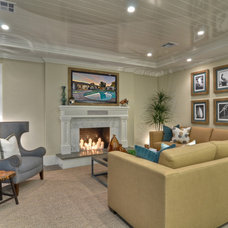 Transitional Living Room by Spinnaker Development