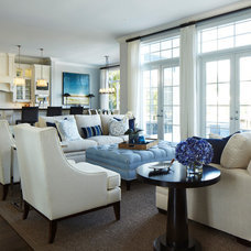 Traditional Living Room by Ocean Blue Custom Homes