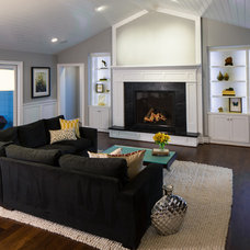 Transitional Living Room by Zieba Builders, Inc.