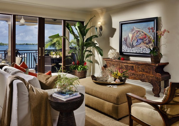 Tropical Living Room by tuthill architecture