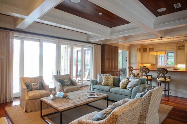 Beach Style Living Room by Margaret Donaldson Interiors