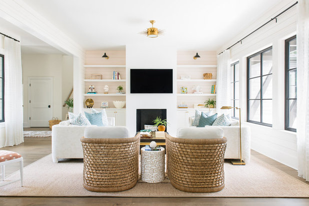 Coastal Living Room by Allison Elebash Interior Design