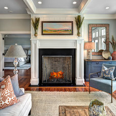Traditional Living Room by Jill Frey Kitchen Design