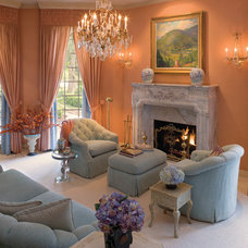 Mediterranean Living Room by Kickerillo Companies