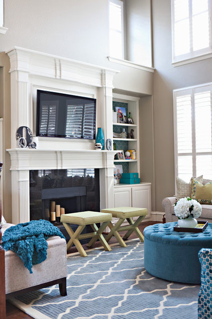 transitional living room by Abbe Fenimore Studio Ten 25