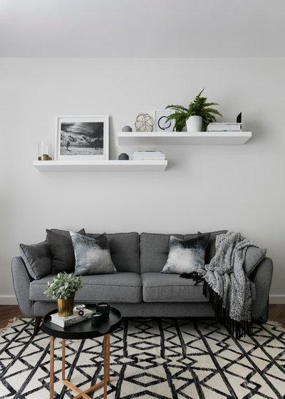 Scandinavian Living Room by Shanade McAllister-Fisher Interior Design