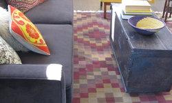 Kilim Rug in Mid Century Modern Room