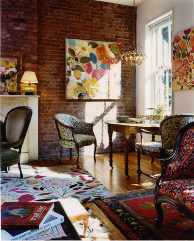 Traditional Living Room by Kim Parker Interiors