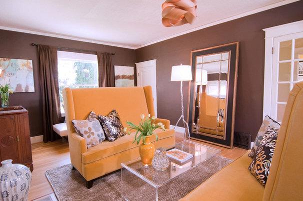 Contemporary Living Room by Kimberlee Jaynes