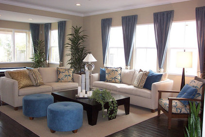 Contemporary Living Room by Kimberly Riley, ASID