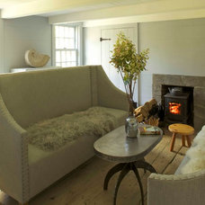 Farmhouse Living Room by JAMES DIXON ARCHITECT PC