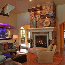 Traditional Living Room by Landmark Builders