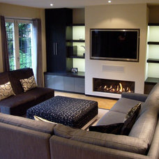 Contemporary Family Room by Coombe Interiors ltd