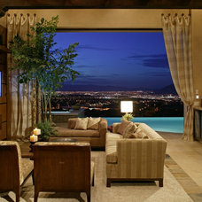 Contemporary Living Room by Sun West Custom Homes LLC