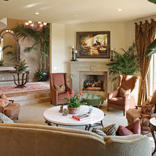 Traditional Living Room by James Patrick Walters