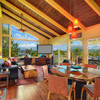 Vaulted Ceiling Living Room Tropical Living Room San