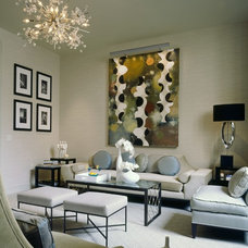 Transitional Living Room by James Rixner, Inc.