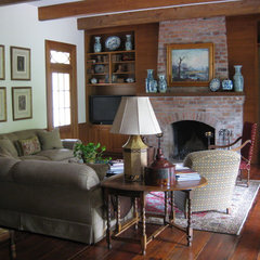 traditional living room by Al Jones Architect