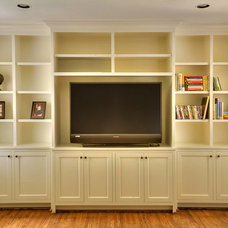 Traditional Living Room by Quartersawn Custom Cabinetry and Woodworks, LLC