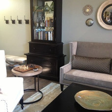 Transitional Living Room by Le Reve Design & Assoc.