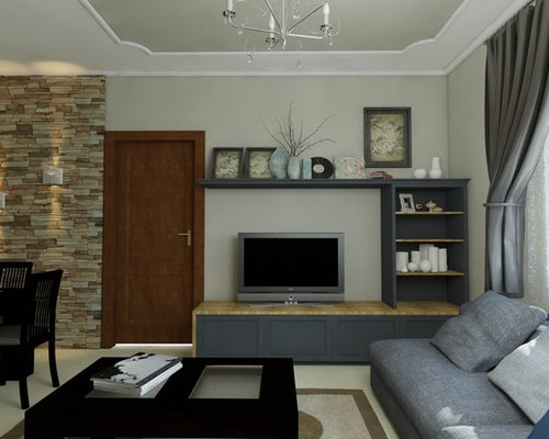 arts and crafts living room design ideas renovations photos with a
