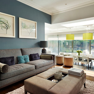 Blue Grey Walls Living Room Ideas