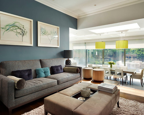 Blue Gray Living Room blue gray living room | houzz