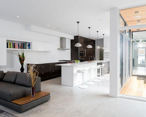 Epoxy floor houzz for Concrete floor living room ideas