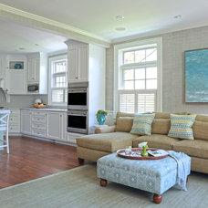 Traditional Living Room by Carol Flanagan Interior Design LLC