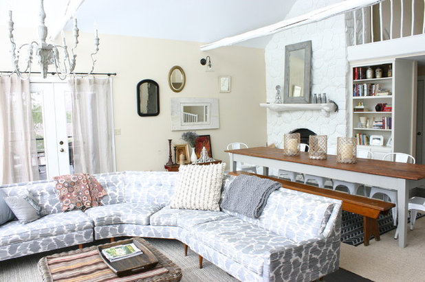 Farmhouse Living Room by KitchenLab Interiors