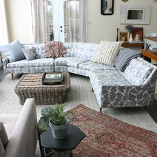 Eclectic Living Room by Rebekah Zaveloff | KitchenLab