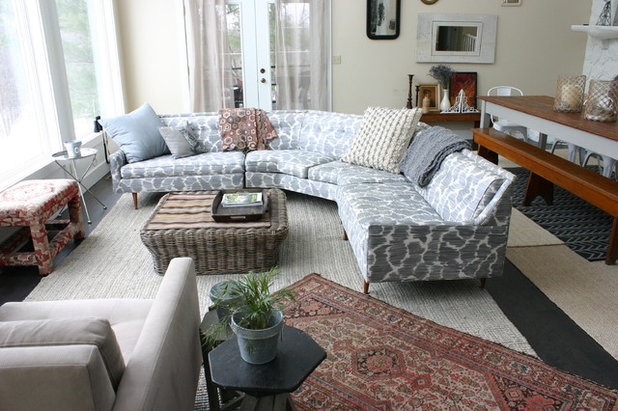 Eclectic Living Room by KitchenLab Interiors