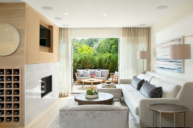 Transitional Living Room by Form Collective