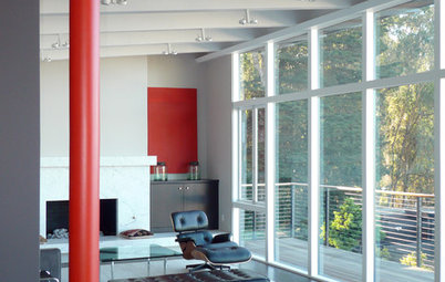 Color Energizes Modern House Interiors
