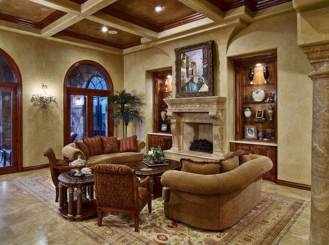 Traditional Living Room by Bella Villa Design Studio